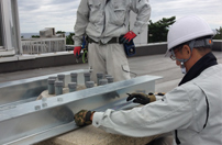 新潟県の日本海側にて受信工事